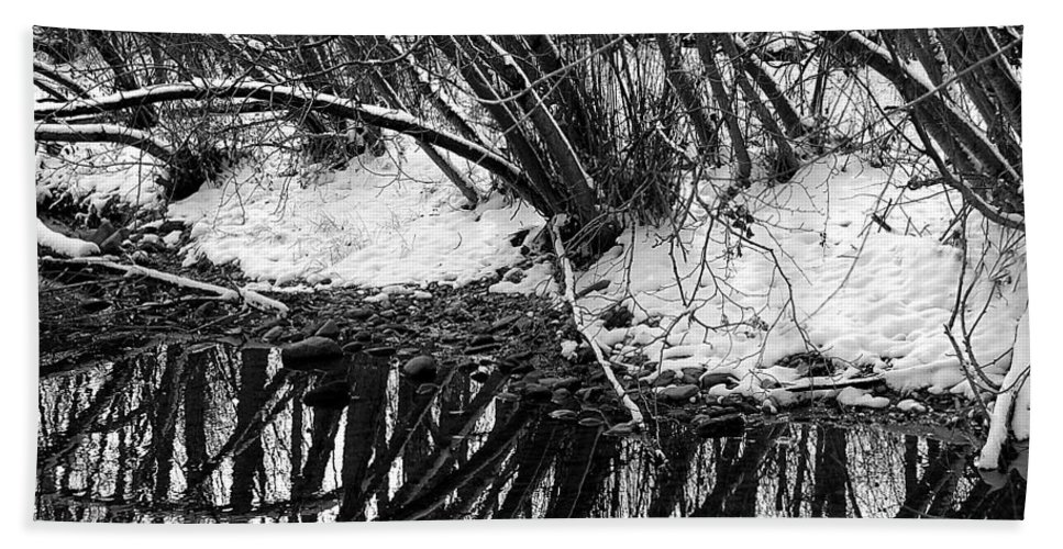 Boulder Bath Sheet featuring the photograph Boulder Creek by Marilyn Hunt