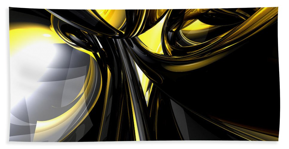 3d Hand Towel featuring the digital art Bounded By Light Abstract by Alexander Butler