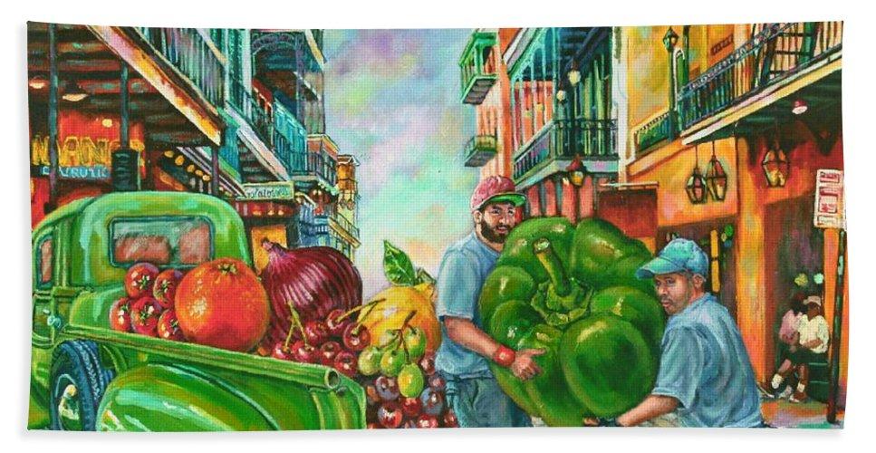 Art Bath Sheet featuring the painting Bounty Full by Lisa Tygier Diamond