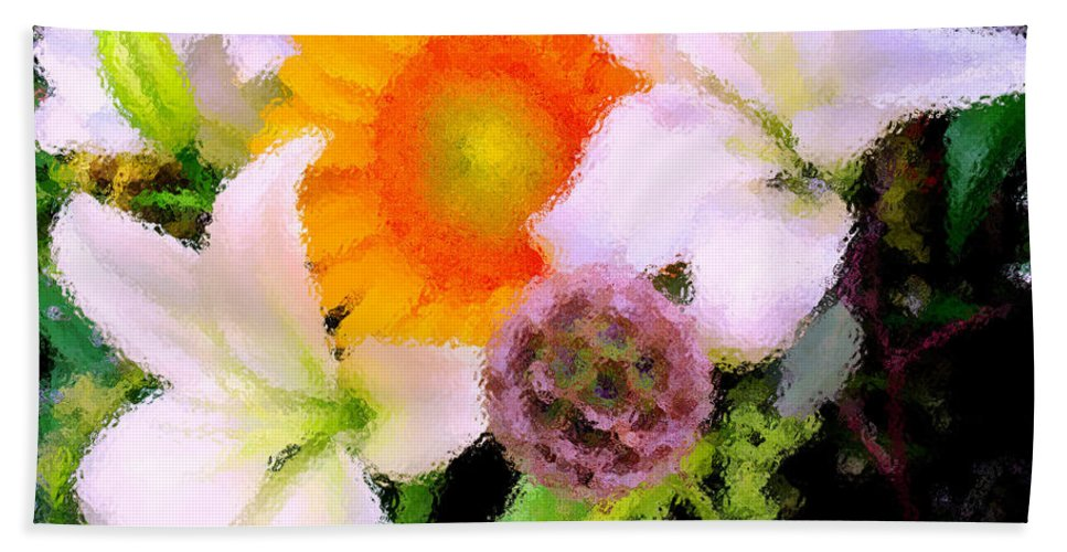 Sun Hand Towel featuring the photograph Bouquet Softly There by Ian MacDonald