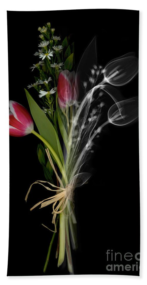X-ray Hand Towel featuring the photograph Bouquet X-ray by Ted Kinsman