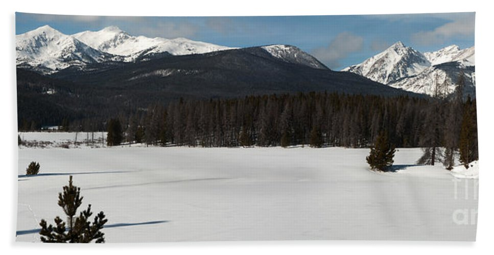 Landscape Hand Towel featuring the photograph Bowen Baker Pano by Russell Smith