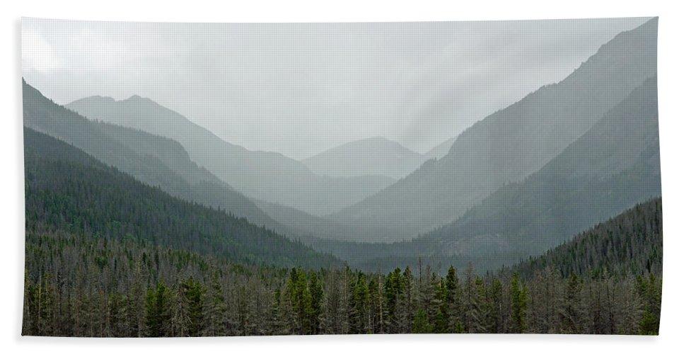 Bowen Bath Sheet featuring the photograph Bowen Mountain In Summer Storm by Robert Meyers-Lussier