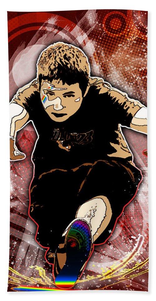 3d Bath Sheet featuring the digital art Boy by Svetlana Sewell