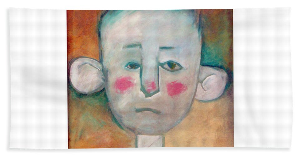 Boy Bath Sheet featuring the painting Boy by Tim Nyberg