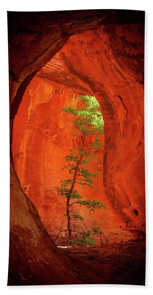 Sedona Hand Towel featuring the photograph Boynton Canyon 04-343 by Scott McAllister