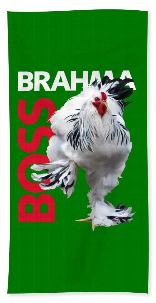 Brahma Bath Towel featuring the digital art Brahma Boss T-shirt Print by Sigrid Van Dort