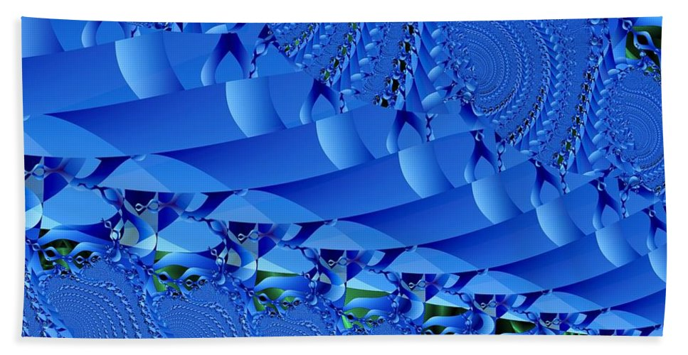 Fractal Image Bath Towel featuring the digital art Braided Ribbon Wall by Ron Bissett