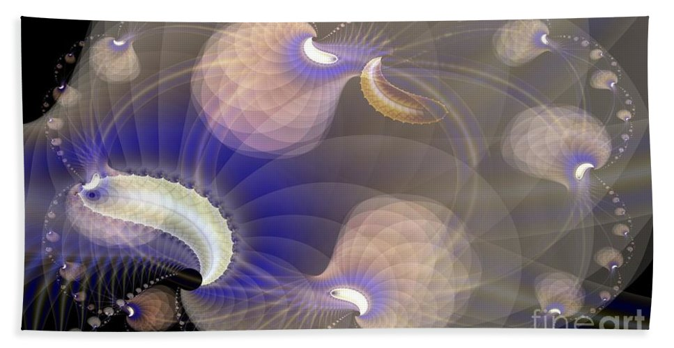 Bath Sheet featuring the digital art Brains In Motion 2 by Ron Bissett