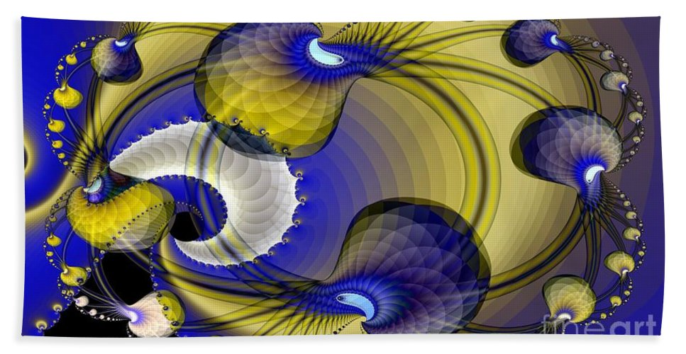 Brains Hand Towel featuring the digital art Brains In Motion 4 by Ron Bissett