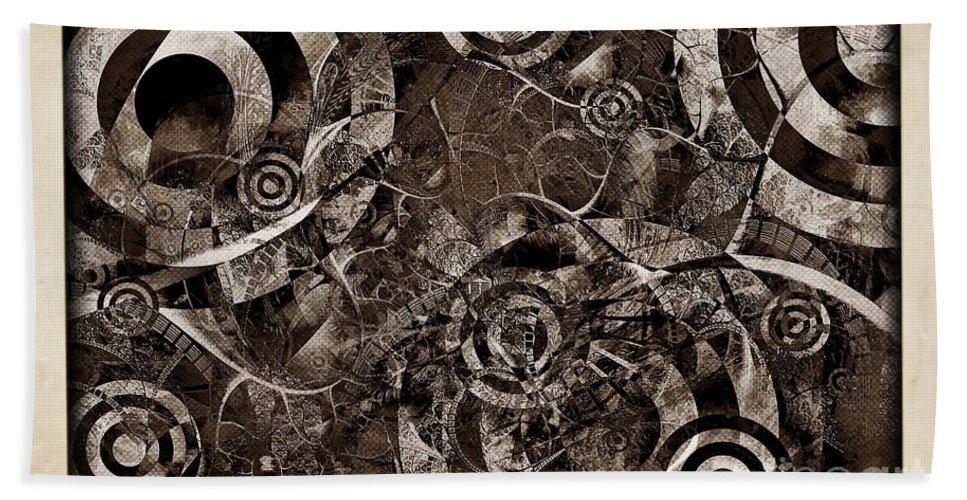Abstraction Hand Towel featuring the digital art Brake 3645 by Marek Lutek