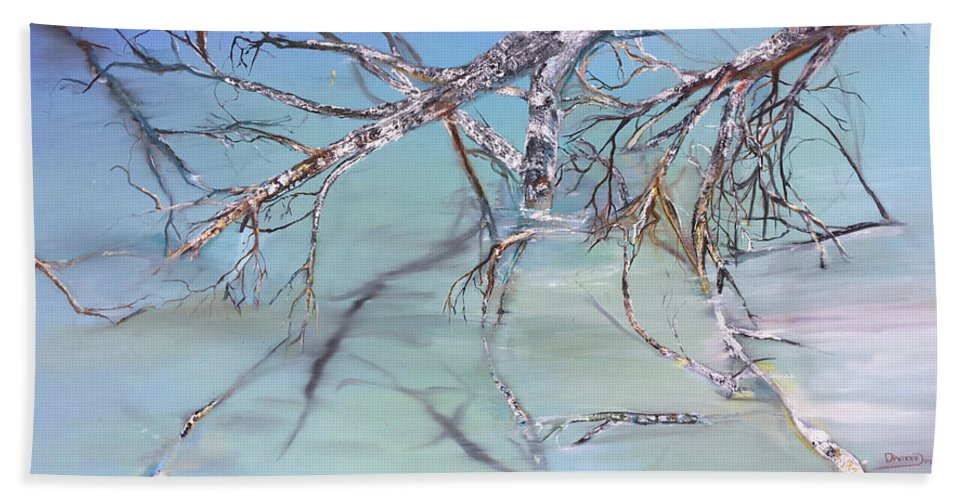 Jack Hand Towel featuring the painting Branches by Jack Diamond