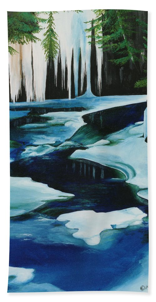 Winter Hand Towel featuring the painting Brandywine by Glen Frear