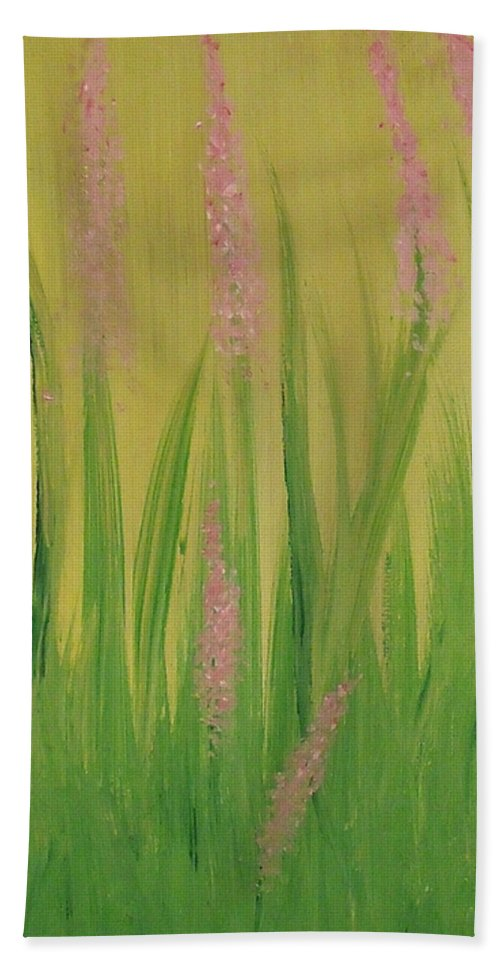 Flowers Hand Towel featuring the painting Breaking Ground by Steve Cochran