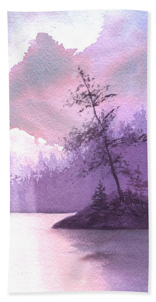 Landscape Hand Towel featuring the painting Breakthrough by Lynn Quinn