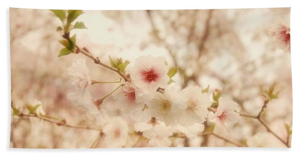 Cherry Blossom Trees Bath Sheet featuring the photograph Breathe - Holmdel Park by Angie Tirado