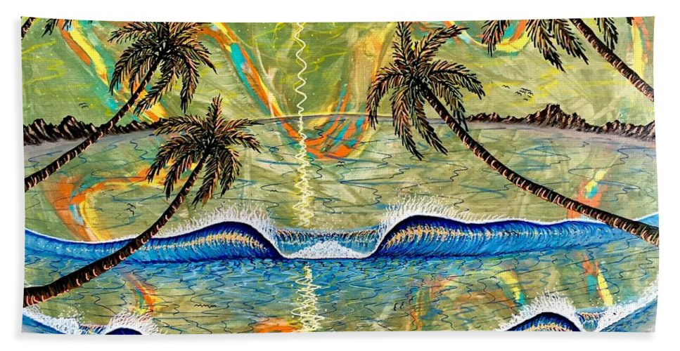 Breathe Bath Towel featuring the painting Breathe In Clarity by Paul Carter