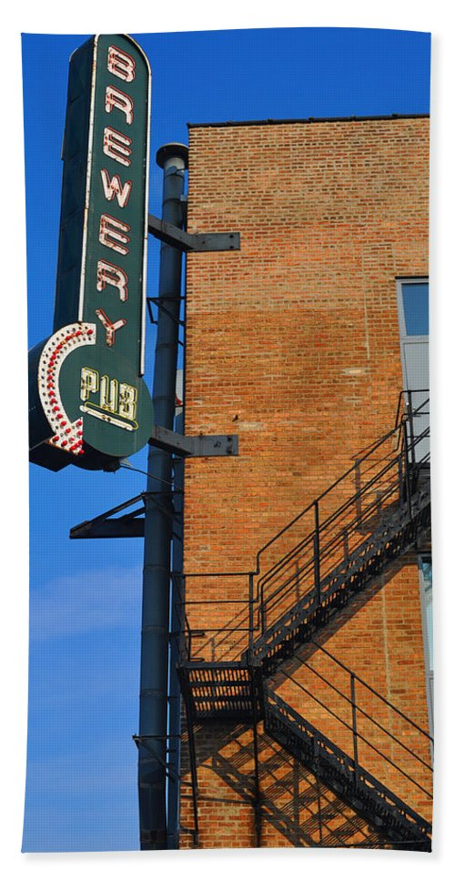 Chicago Bath Sheet featuring the photograph Brewery Pub by Tim Nyberg