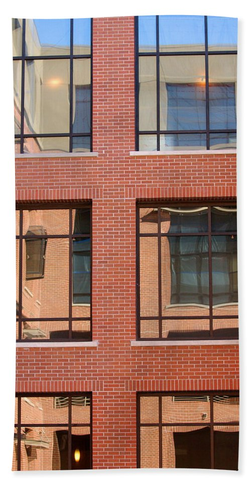 Architecture Hand Towel featuring the photograph Brick Building by Jill Reger