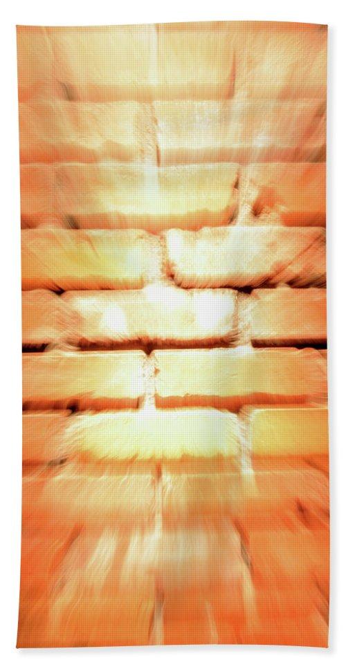Brick Bath Sheet featuring the photograph Brick Wall by Ric Bascobert