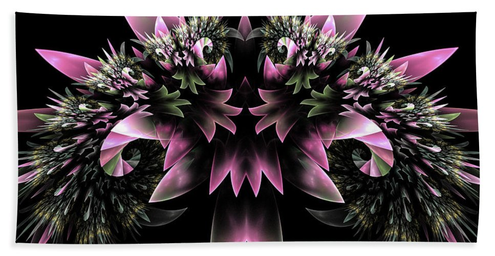 Fract Hand Towel featuring the digital art Bridal Bouquet by Amorina Ashton