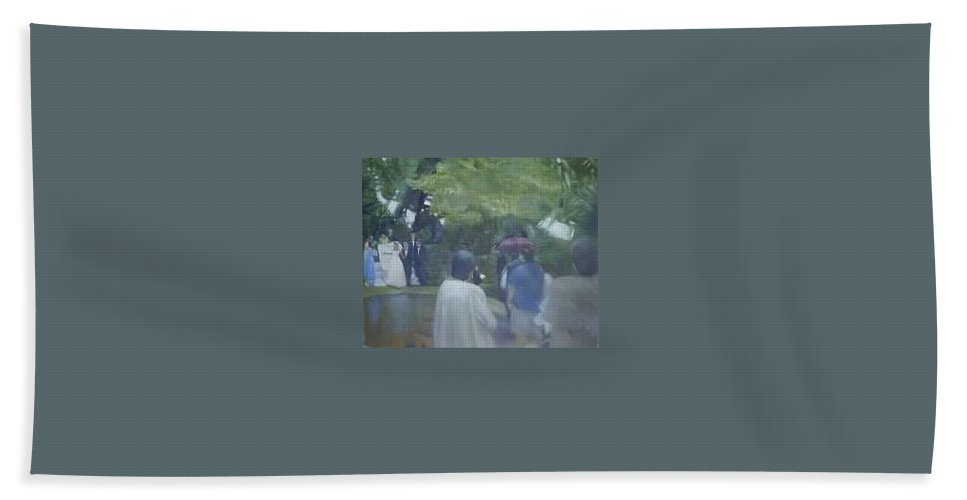 Wedding Hand Towel featuring the painting Bridal Showers by Sheila Mashaw