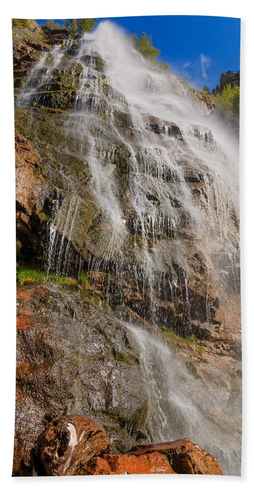 Trailsxposed Hand Towel featuring the photograph Bridal Veil by Gina Herbert