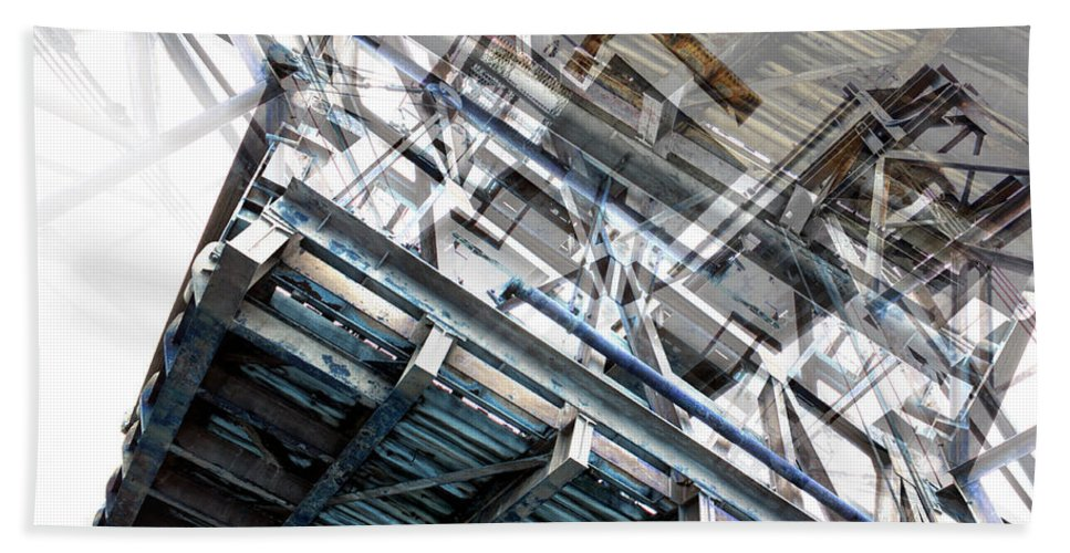 Bridge Abstract Hand Towel featuring the photograph Bridge Abstract by Wayne Sherriff