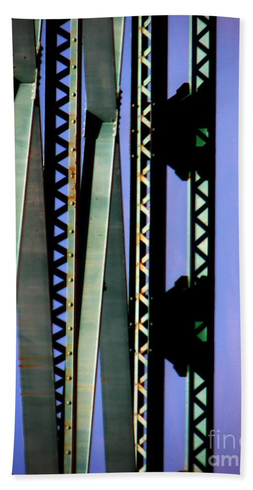 Bridge Hand Towel featuring the photograph Bridge by Amanda Barcon