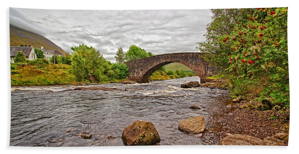 Landscape Bath Sheet featuring the photograph Bridge Of Orchy Argyll Bute by Marcia Colelli