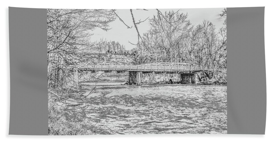 River Bath Sheet featuring the photograph Bridge Over The Vermilion by George Noleff