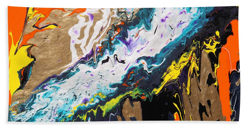 Fusionart Hand Towel featuring the painting Bridge by Ralph White