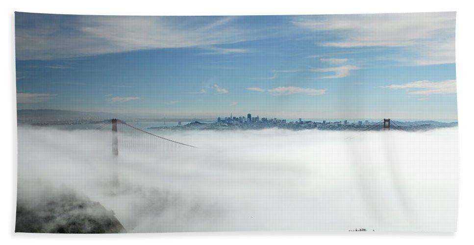 San Francisco Bath Sheet featuring the photograph Brigadoon by Donna Blackhall