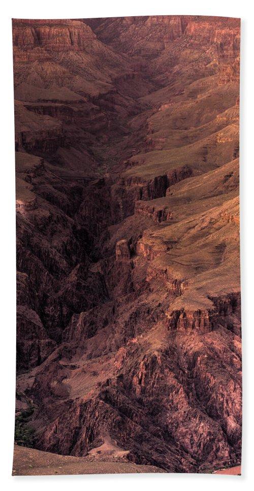 Arizona Hand Towel featuring the photograph Bright Angel Canyon Grand Canyon National Park by Steve Gadomski