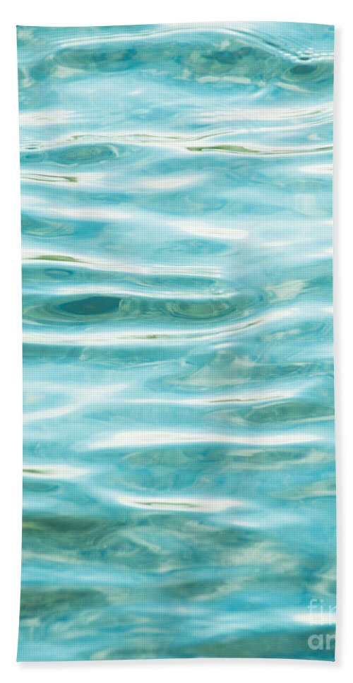 Water Hand Towel featuring the photograph Bright Aqua Water Ripples by Jim And Emily Bush