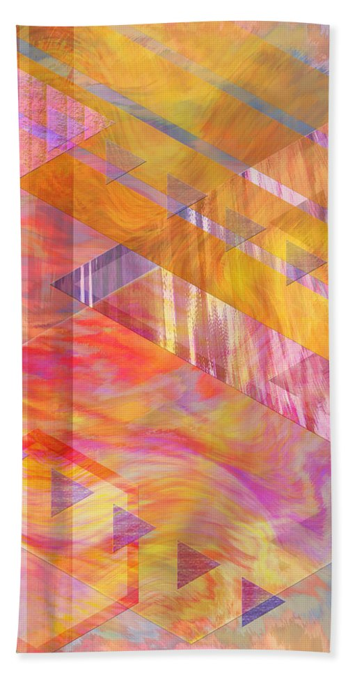 Affordable Art Hand Towel featuring the digital art Bright Dawn by John Beck