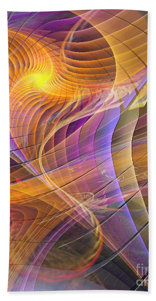 Bright Idea Abstract Hand Towel featuring the digital art Bright Idea by John Beck