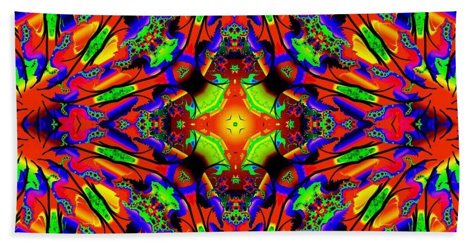 Colorful Bath Sheet featuring the digital art Bright Side by Robert Orinski