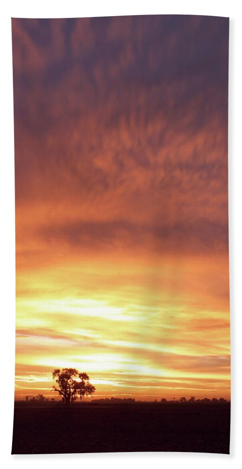 Landscape Bath Sheet featuring the photograph Bright Sunset by Scott Sawyer