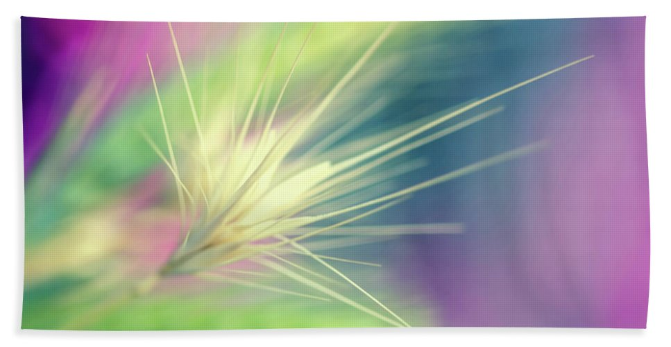 Bright Colors Hand Towel featuring the digital art Bright Weed by Terry Davis