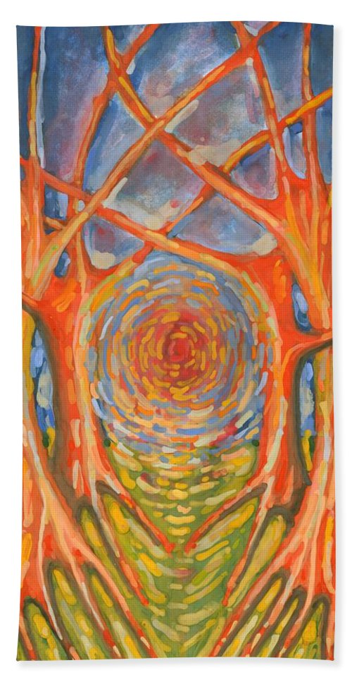 Colour Bath Sheet featuring the painting Brightness by Wojtek Kowalski