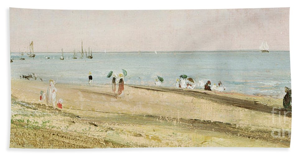 Constable Bath Towel featuring the painting Brighton Beach  Detail by John Constable