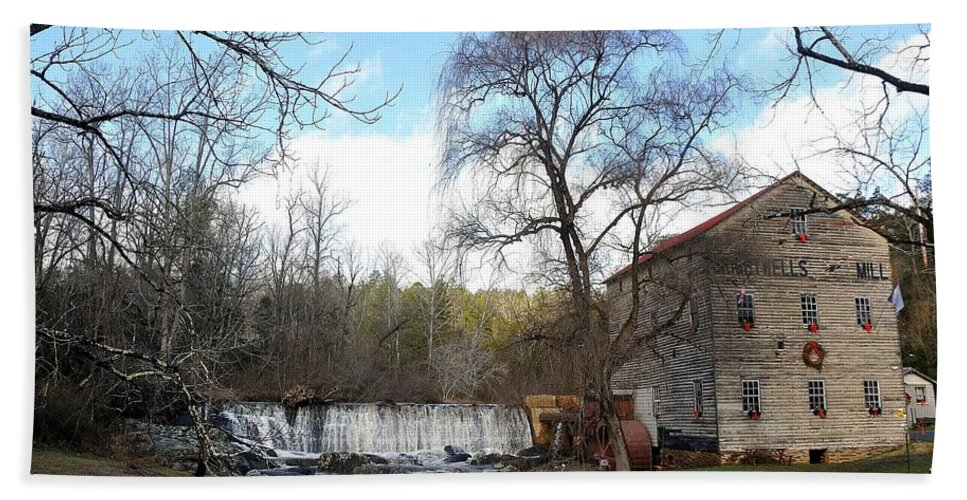 Brightwell's Mill Hand Towel featuring the photograph Brightwell's Mill 4 by Todd Hostetter