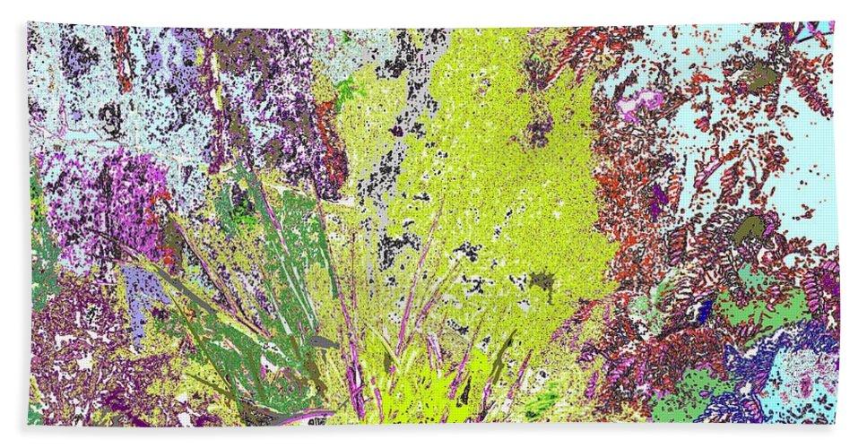 Abstract Hand Towel featuring the photograph Brimstone Fantasy by Ian MacDonald