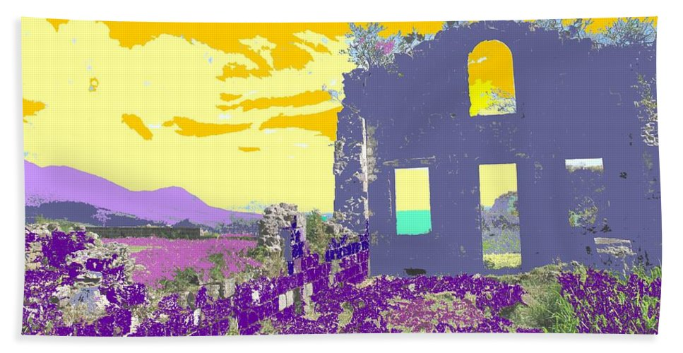 Brimstone Hand Towel featuring the photograph Brimstone Sunset by Ian MacDonald