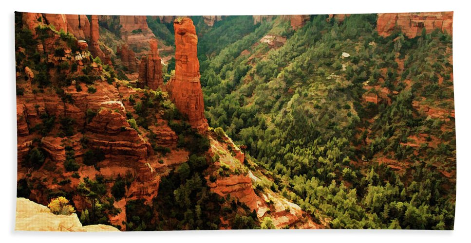 Arizona Bath Sheet featuring the photograph Brins Mesa 07-143 by Scott McAllister