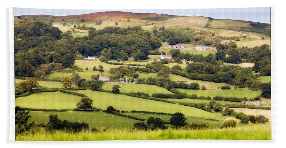 Landscape Hand Towel featuring the photograph British Landscape by Mal Bray