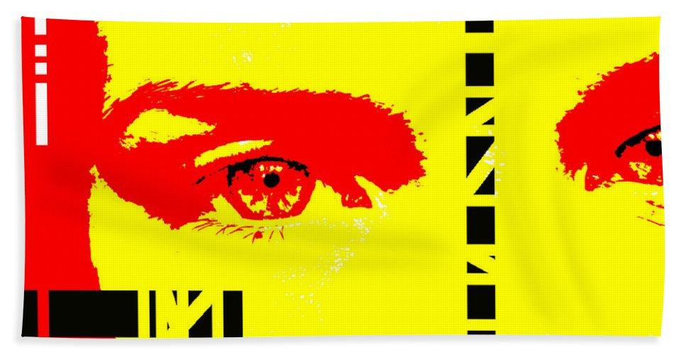 Eyes Hand Towel featuring the photograph Broken by Amanda Barcon