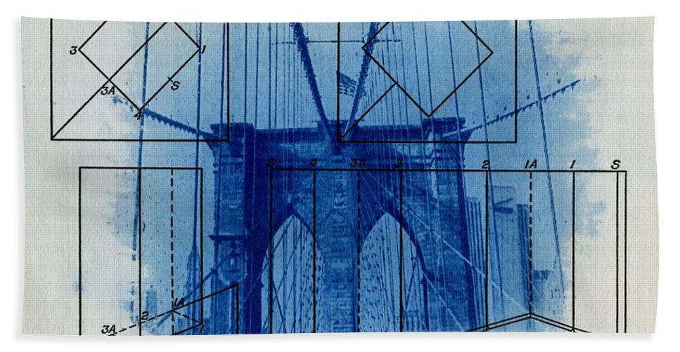 Brooklyn Bridge Bath Towel featuring the photograph Brooklyn Bridge by Jane Linders
