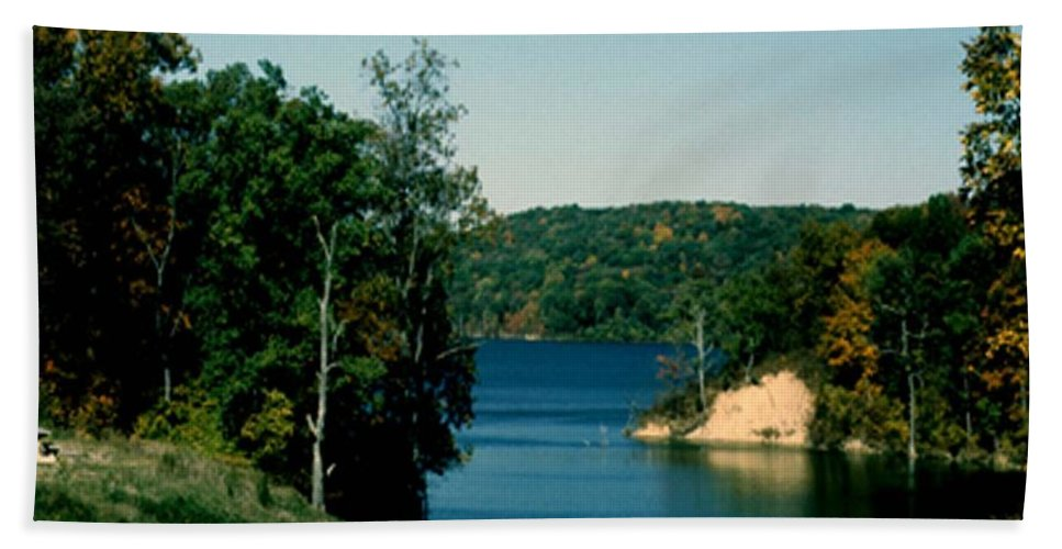 Brookville Indiana Hand Towel featuring the photograph Brookville Lake Brookville Indiana by Gary Wonning